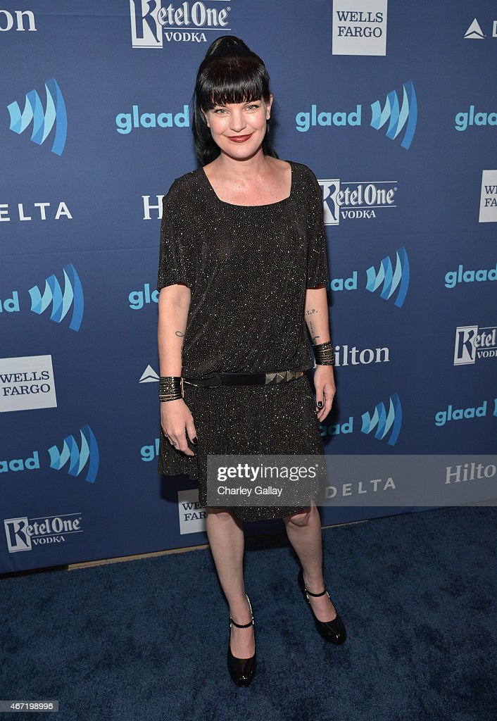 Actress <a gi-track='captionPersonalityLinkClicked' href=/galleries/search?phrase=Pauley+Perrette&family=editorial&specificpeople=625846 ng-click='$event.stopPropagation()'>Pauley Perrette</a> attends the 26th Annual GLAAD Media Awards at The Beverly Hilton Hotel on March 21, 2015 in Beverly Hills, California.