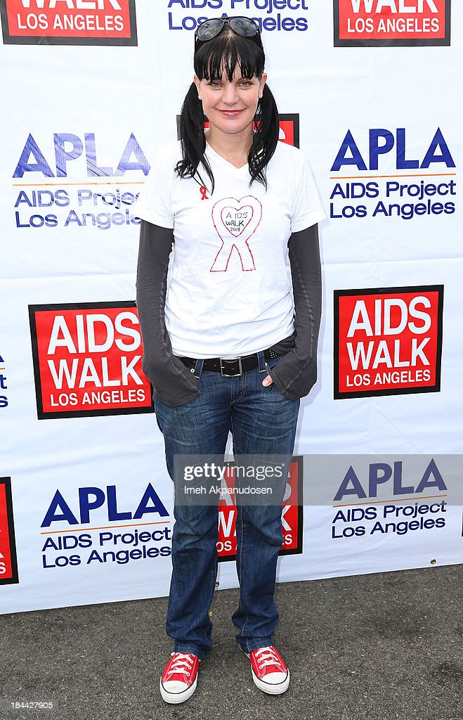 Actress <a gi-track='captionPersonalityLinkClicked' href=/galleries/search?phrase=Pauley+Perrette&family=editorial&specificpeople=625846 ng-click='$event.stopPropagation()'>Pauley Perrette</a> attends the 29th Annual AIDS Walk LA on October 13, 2013 in West Hollywood, California.