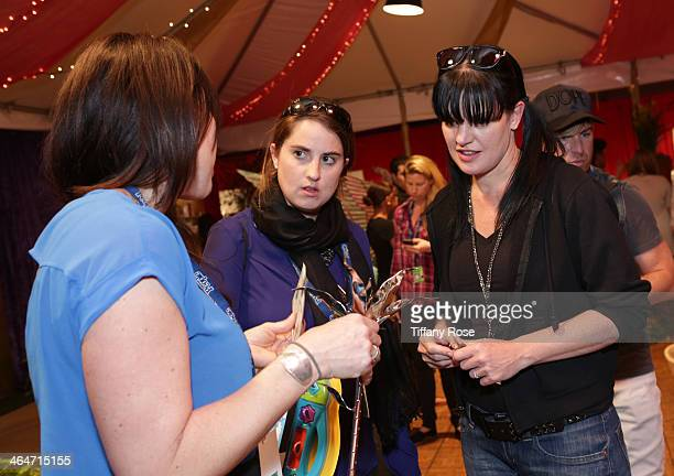 Actress Pauley Perrette attends the GRAMMY Gift Lounge during the 56th Grammy Awards at Staples Center on January 23 2014 in Los Angeles California