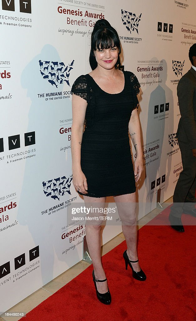 Actress Pauley Perrette attends The Humane Society of the United States 2013 Genesis Awards Benefit Gala at The Beverly Hilton Hotel on March 23, 2013 in Los Angeles, California.
