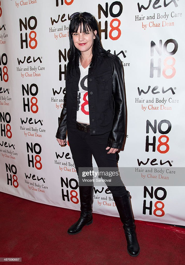 Actress <a gi-track='captionPersonalityLinkClicked' href=/galleries/search?phrase=Pauley+Perrette&family=editorial&specificpeople=625846 ng-click='$event.stopPropagation()'>Pauley Perrette</a> attends the NOH8 Campaign's 5th Annual Anniversary Celebration at Avalon on December 15, 2013 in Hollywood, California.