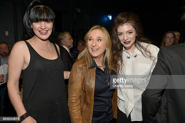 Actress Pauley Perrette recording artist Melissa Etheridge and singer Lorde attend The GRAMMY Nominations Concert Live Countdown to Music's Biggest...