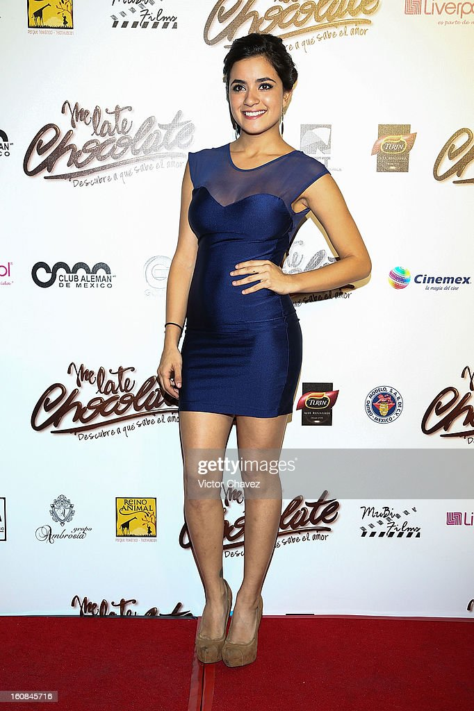 Actress Paulina Gaitán attends the 'Me Late Chocolate' Mexico City premiere at Cinemex WTC on February 6, 2013 in Mexico City, Mexico.