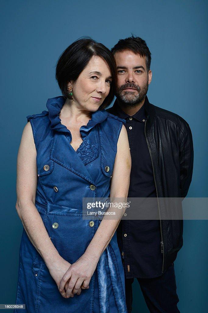 Actress Paulina García and director Sebastian Lelio of 'Gloria' pose at the Guess Portrait Studio during 2013 Toronto International Film Festival on...