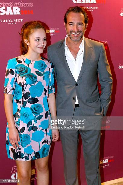 Actress Pauline Burlet sponsored by actor Jean Dujardin for the movie 'Le Passe' at the Chaumet's Cocktail Party for Cesar's Revelations 2014 at...