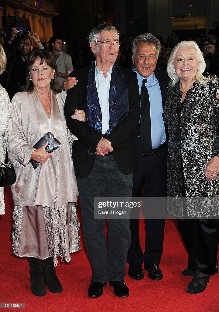 Actress Pauline Collins, actor Tom Courtenay, Director Dustin Hoffman and singer Dame Gwyneth Jones attend the premiere of 'Quartet' during the 56th BFI London Film Festival at Odeon Leicester Square on October 15, 2012 in London, England.
