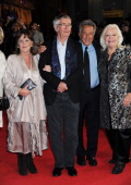 Actress Pauline Collins actor Tom Courtenay Director Dustin Hoffman and singer Dame Gwyneth Jones attend the premiere of 'Quartet' during the 56th...