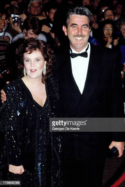 Actress Pauline Collins and her husband John Alderton attend the premiere of 'Shirley Valentine' at the Empire cinema on October 11 1989 in London...