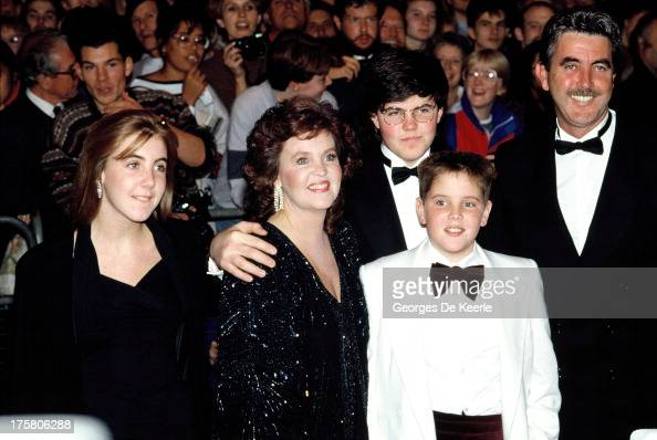 Actress Pauline Collins her husband John Alderton and their children Kate Nicholas and Richard attend the premiere of 'Shirley Valentine' at the...
