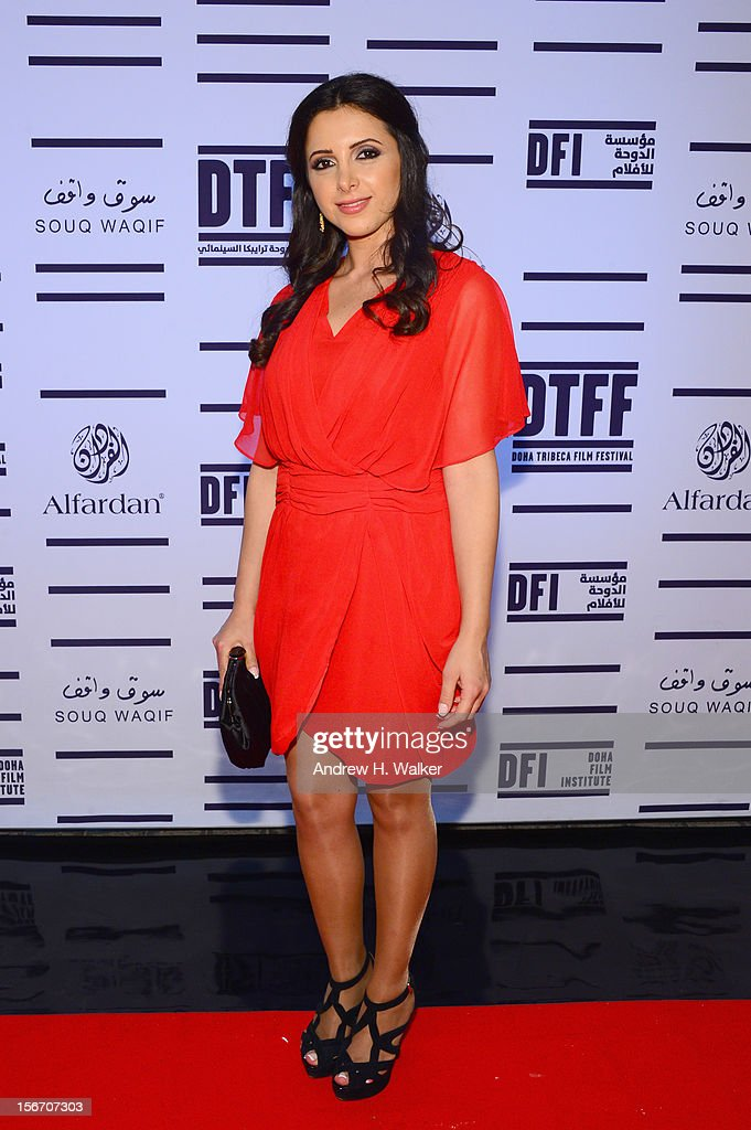 Actress Pauline Haddad attends the 'Silver Linings Playbook' premiere at the Al Mirqab Hotel during the 2012 Doha Tribeca Film Festival on November 19, 2012 in Doha, Qatar.