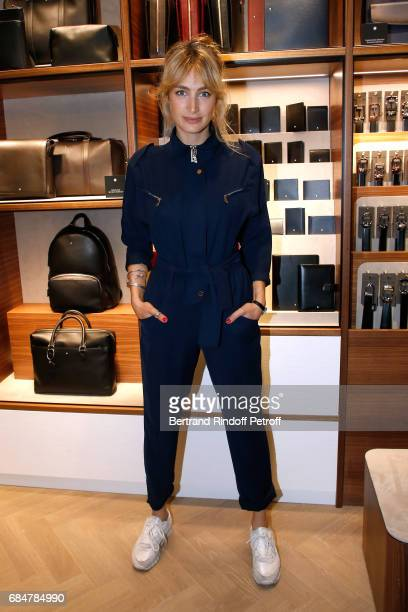 Actress Pauline Lefevre attends the Montblanc ChampsElysees Flagship Reopening on May 18 2017 in Paris France