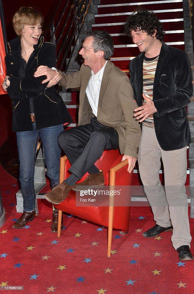 Actress Pauline Lefevre director Patrice Leconte and actor Clement Sibony attend the 'Festival Du Film de Boulogne Billancourt' 'Voir La Mer'...