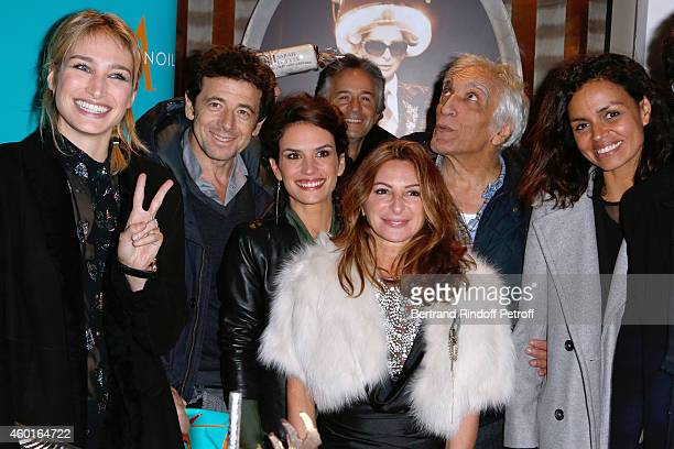 Actress Pauline Lefevre Singer Patrick Bruel Barbara Cabrita Guest Sarah Guetta Actor Gerard Darmon and TV host Laurence Roustandjee attend the Sarah...