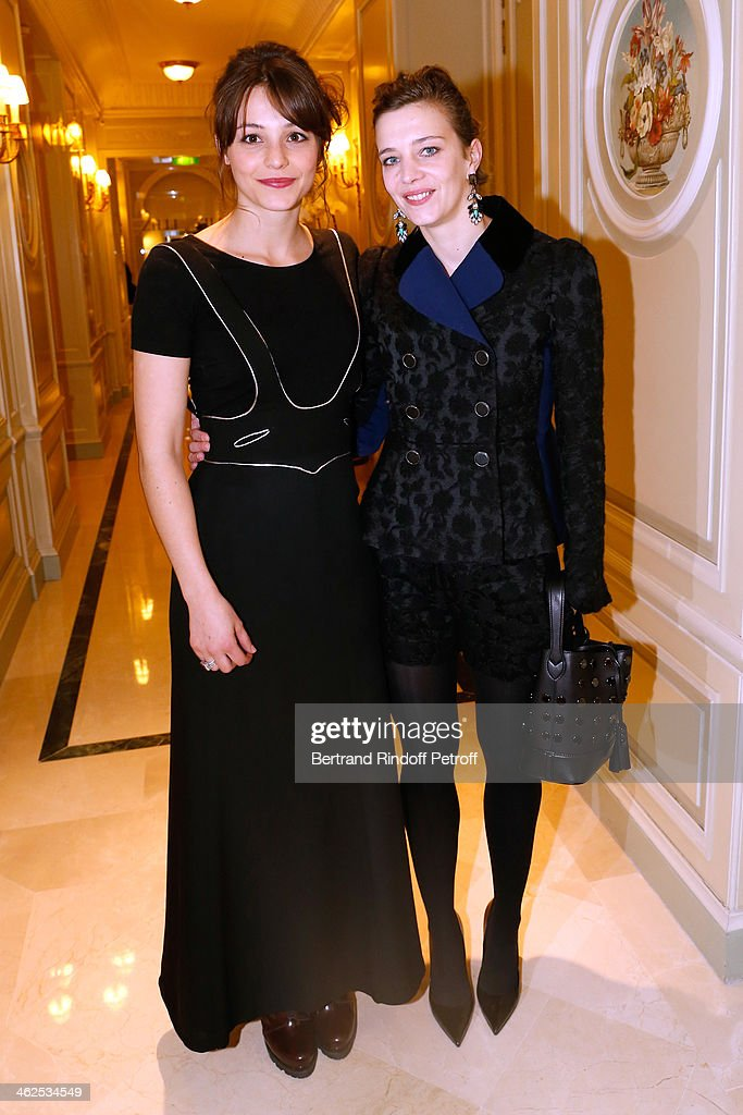Actress Pauline Parigot (L) sponsored by Celine Salette for the movie 'Les lendemains' at the Chaumet's Cocktail Party for Cesar's Revelations 2014 at Musee Chaumet, followed by a dinner at Hotel Meurice on January 13, 2014 in Paris, France.