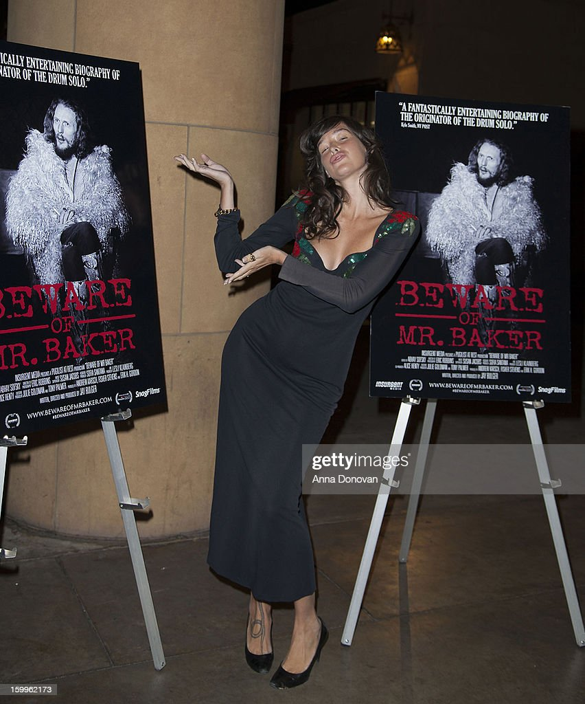 Actress Paz de la Huerta attends a special screening of 'Beware Of Mr Baker' at the Egyptian Theatre on January 23 2013 in Hollywood California