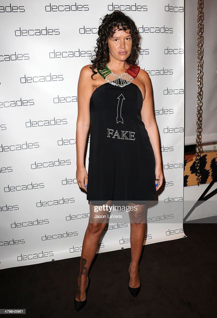 Actress <a gi-track='captionPersonalityLinkClicked' href=/galleries/search?phrase=Paz+de+la+Huerta&family=editorial&specificpeople=586012 ng-click='$event.stopPropagation()'>Paz de la Huerta</a> attends the Decades: Les Must De Moschino event at Decades on March 20, 2014 in Los Angeles, California.