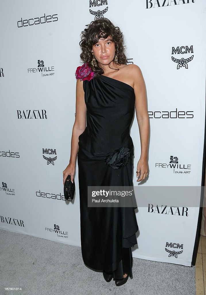 Actress Paz de la Huerta attends the Harper's BAZAAR celebration for the new Bravo series 'Dukes of Melrose' at The Terrace at Sunset Tower on February 28, 2013 in West Hollywood, California.