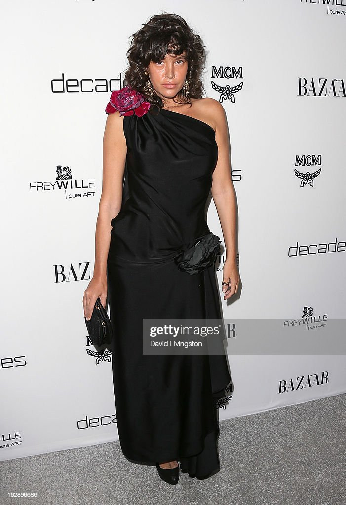 Actress Paz de la Huerta attends the Harper's BAZAAR celebration of Cameron Silver and Christos Garkinos of Decades new Bravo series 'Dukes of Melrose' at The Terrace at Sunset Tower on February 28, 2013 in West Hollywood, California.