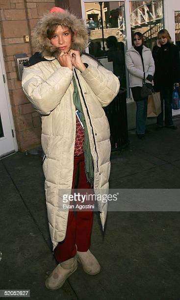 Actress Paz de la Huerta walks at The Village At The Lift during the 2005 Sundance Film Festival on January 23 2005 in Park City Utah
