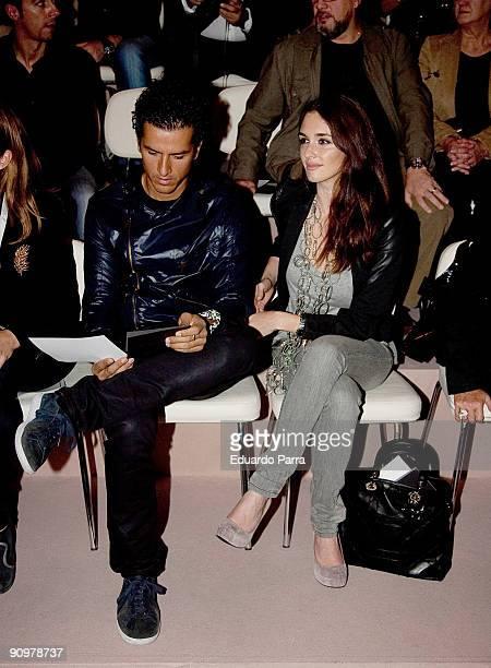 Actress Paz Vega and her husband Orson Salazar attends the Hannibal Laguna show during Cibeles Madrid Fashion Week Spring/Summer 2010 at Pasarela...