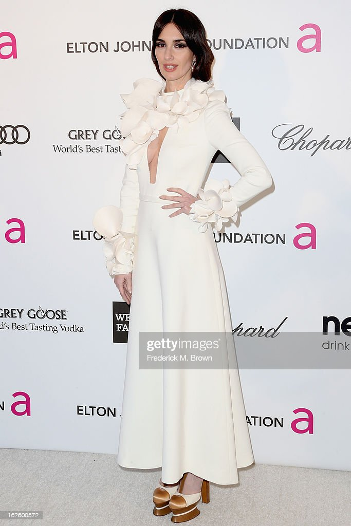 Actress Paz Vega arrives at the 21st Annual Elton John AIDS Foundation's Oscar Viewing Party on February 24, 2013 in Los Angeles, California.
