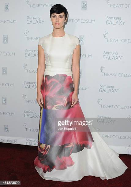 Actress Paz Vega arrives at The Art Of Elysium 8th Annual Heaven Gala at Hangar 8 on January 10 2015 in Santa Monica California