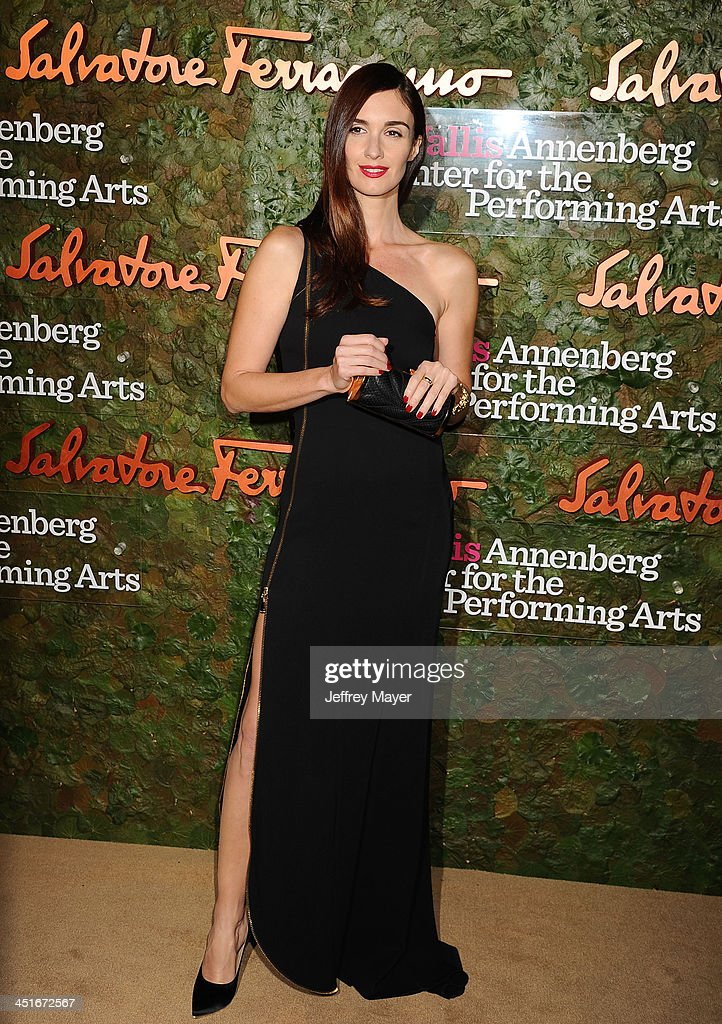 Actress Paz Vega arrives at the Wallis Annenberg Center For The Performing Arts Inaugural Gala at Wallis Annenberg Center for the Performing Arts on October 17, 2013 in Beverly Hills, California.