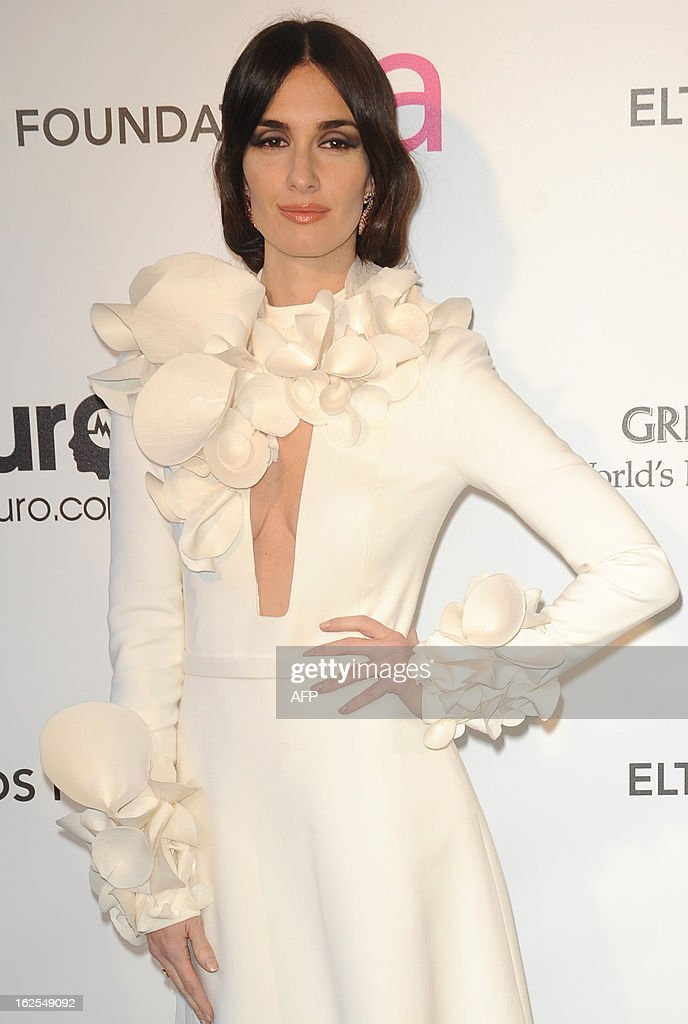 Actress Paz Vega arrives for the 21st Annual Elton John AIDS Foundation's Oscar Viewing Party February 24, 2013 in Hollywood, California. AFP PHOTO/Mehdi TAAMALLAH