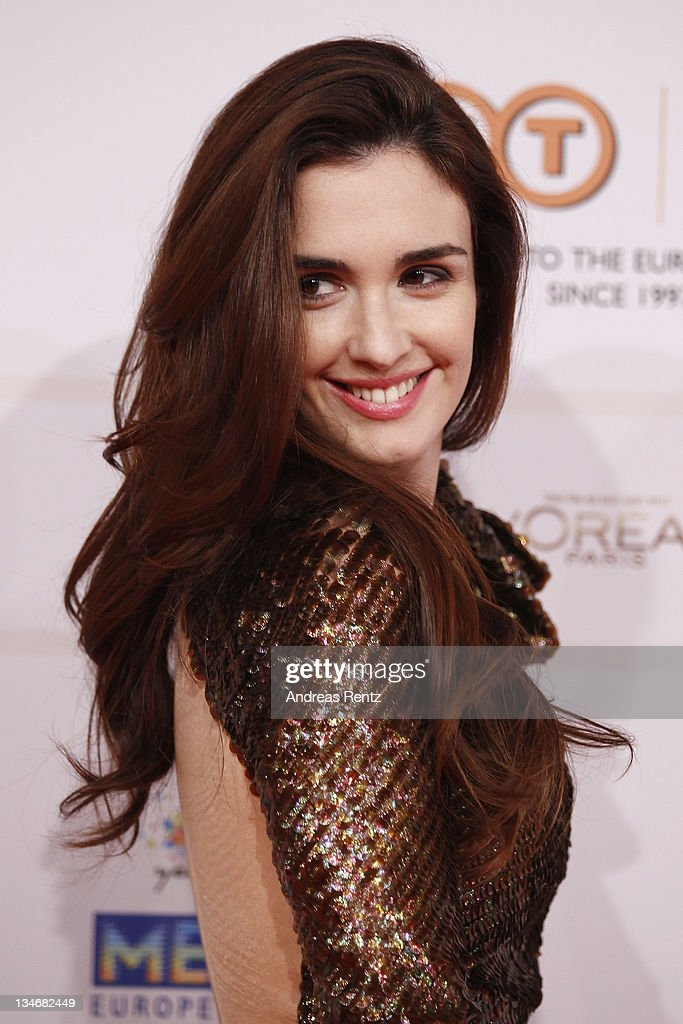 Actress <a gi-track='captionPersonalityLinkClicked' href=/galleries/search?phrase=Paz+Vega&family=editorial&specificpeople=208840 ng-click='$event.stopPropagation()'>Paz Vega</a> arrives for the 24th European Film Awards 2011 at Tempodrom on December 3, 2011 in Berlin, Germany.