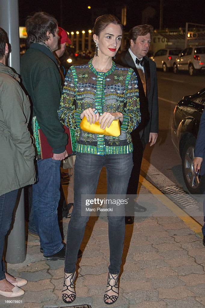 Actress Paz Vega arrives to attend the 'Vanity Fair Chanel' dinner at 'Tetou' restaurant during the 66th Annual Cannes Film Festival on May 19, 2013 in Le Golfe Juan, France.