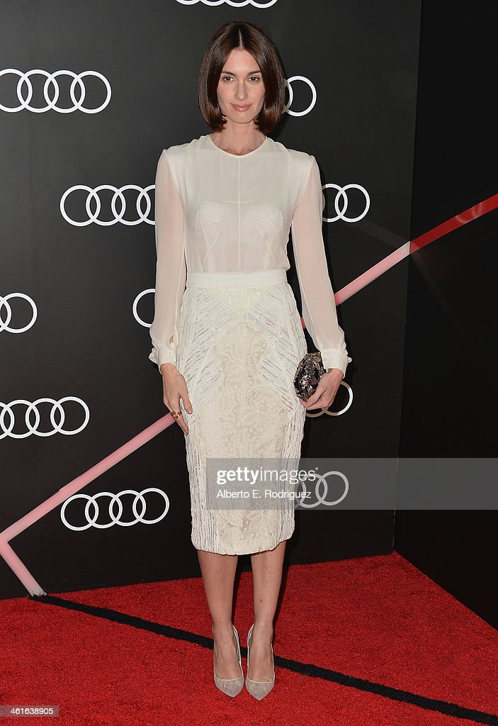 Actress Paz Vega arrives to Audi Celebrates Golden Globes Weekend at Cecconi's Restaurant on January 9, 2014 in Los Angeles, California.