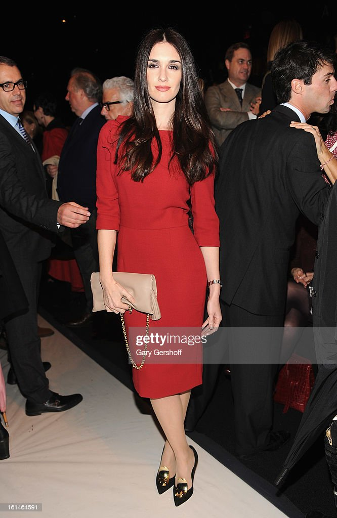 Actress Paz Vega attends Carolina Herrera during Fall 2013 Mercedes-Benz Fashion Week at The Theatre at Lincoln Center on February 11, 2013 in New York City.