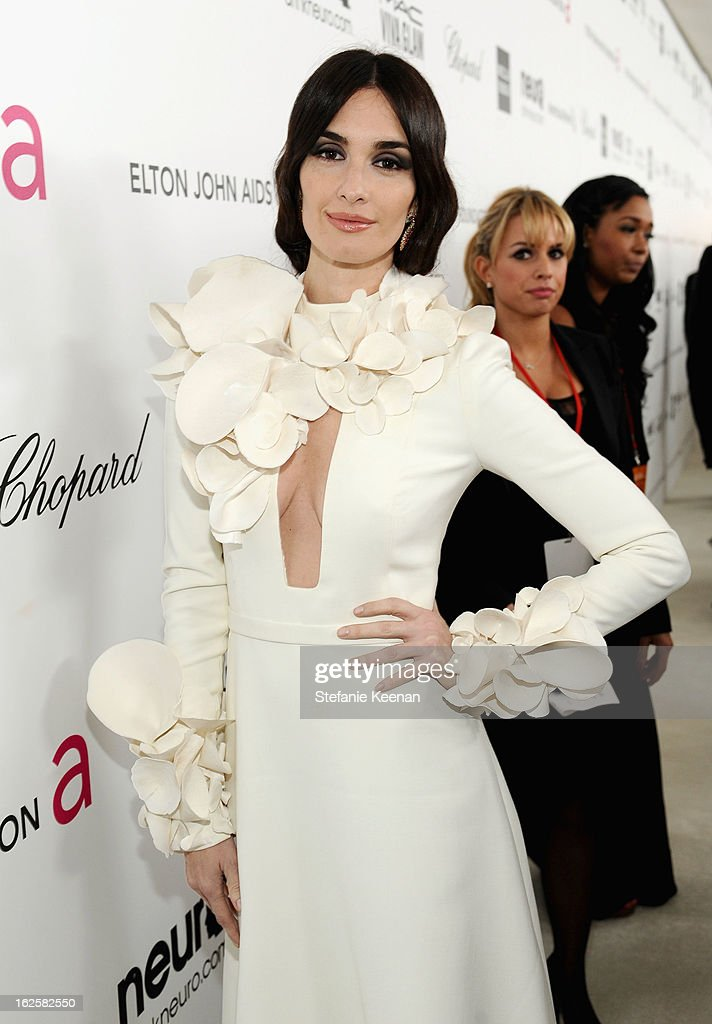 Actress Paz Vega attends Chopard at 21st Annual Elton John AIDS Foundation Academy Awards Viewing Party at West Hollywood Park on February 24, 2013 in West Hollywood, California.