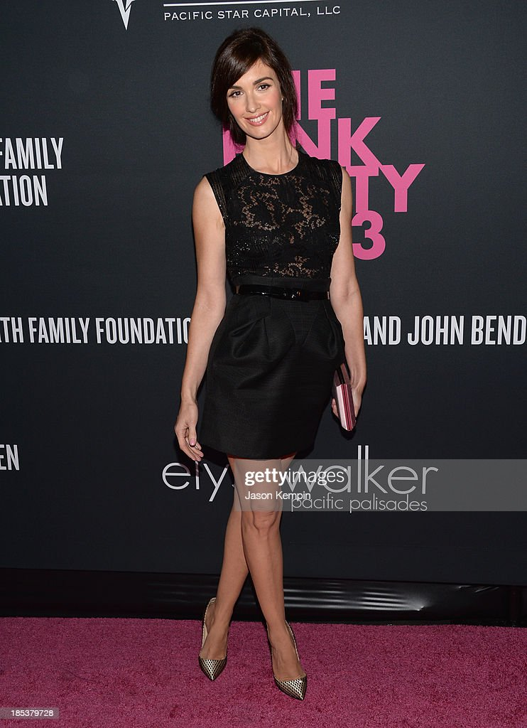 Actress <a gi-track='captionPersonalityLinkClicked' href=/galleries/search?phrase=Paz+Vega&family=editorial&specificpeople=208840 ng-click='$event.stopPropagation()'>Paz Vega</a> attends Elyse Walker Presents The Pink Party 2013 hosted by Anne Hathaway at Barker Hangar on October 19, 2013 in Santa Monica, California.