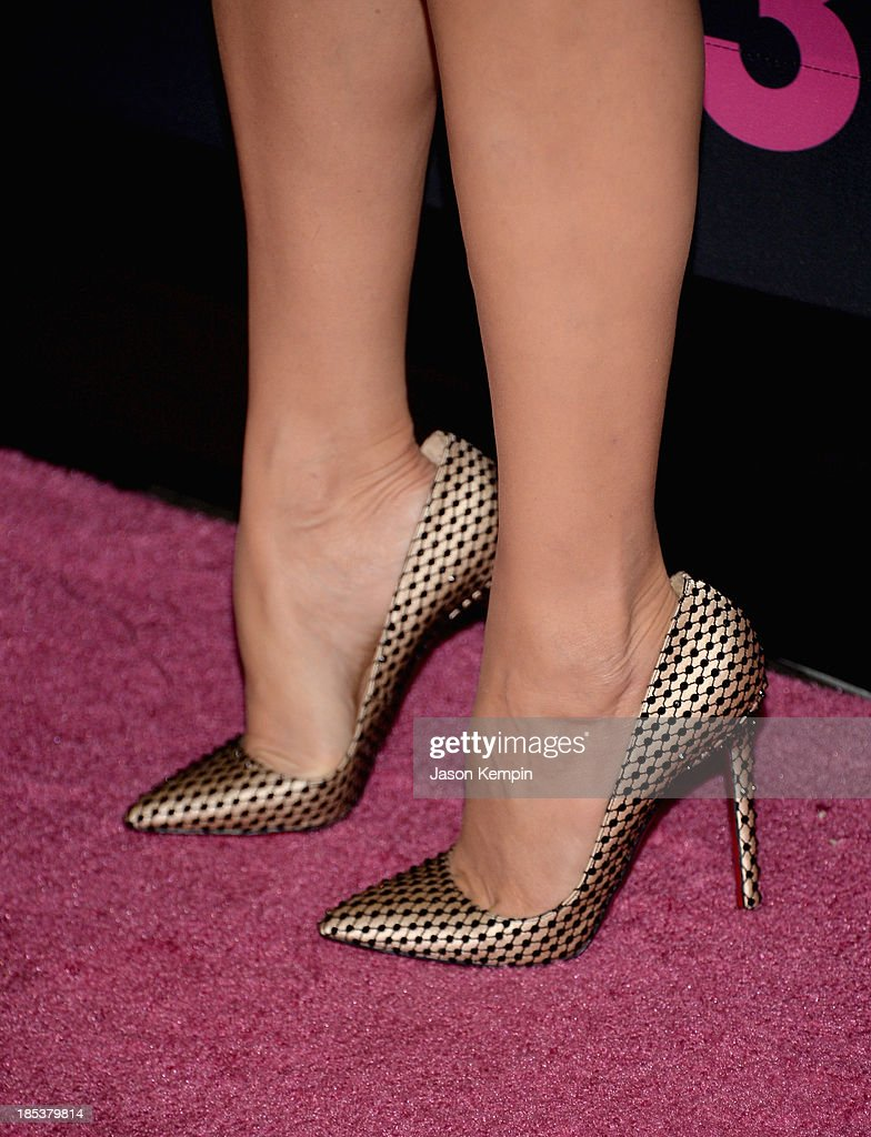 Actress Paz Vega (shoe detail) attends Elyse Walker Presents The Pink Party 2013 hosted by Anne Hathaway at Barker Hangar on October 19, 2013 in Santa Monica, California.
