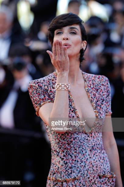 Actress Paz Vega attends the '120 Beats Per Minute ' premiere during the 70th annual Cannes Film Festival at Palais des Festivals on May 20 2017 in...