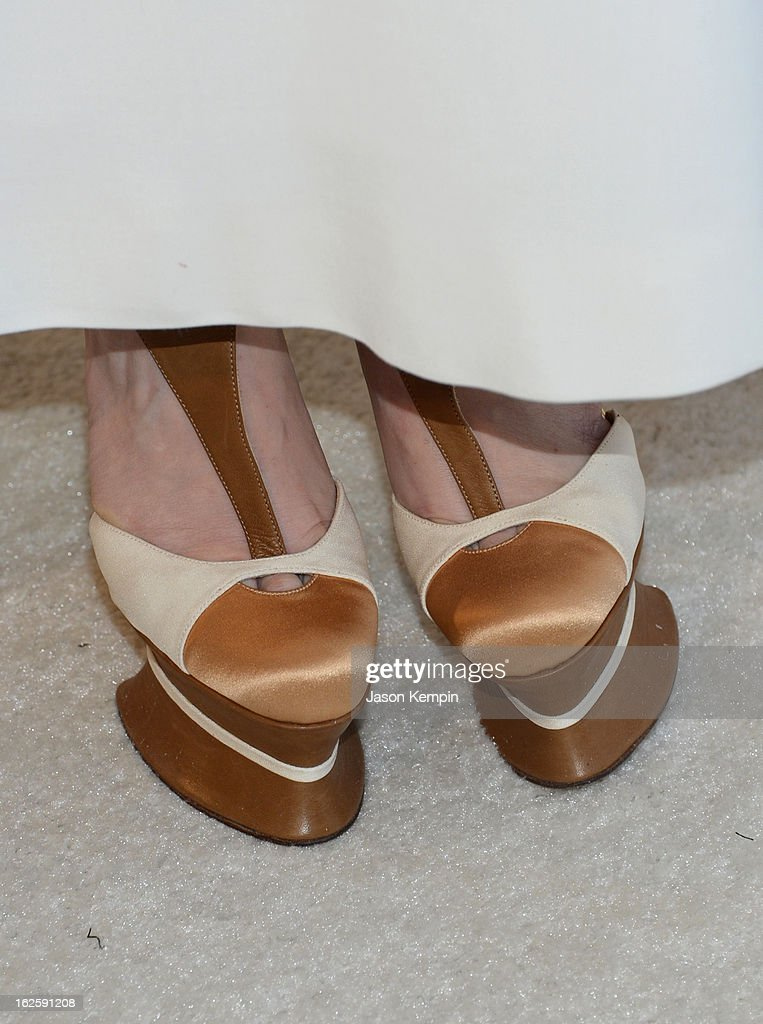Actress Paz Vega (shoe detail) attends the 21st Annual Elton John AIDS Foundation Academy Awards Viewing Party at West Hollywood Park on February 24, 2013 in West Hollywood, California.
