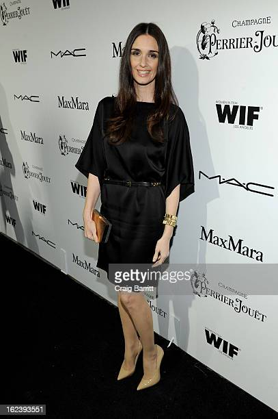 Actress Paz Vega attends the 6th Annual Women In Film PreOscar Party hosted by Perrier Jouet MAC Cosmetics and MaxMara at Fig Olive on February 22...