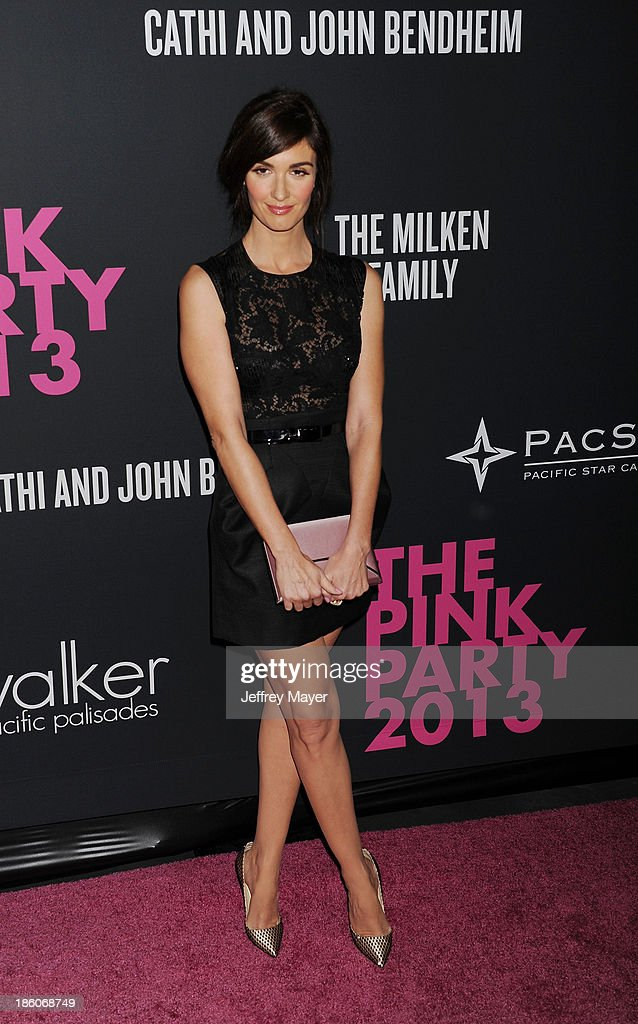 Actress <a gi-track='captionPersonalityLinkClicked' href=/galleries/search?phrase=Paz+Vega&family=editorial&specificpeople=208840 ng-click='$event.stopPropagation()'>Paz Vega</a> attends The Pink Party 2013 at Barker Hangar on October 19, 2013 in Santa Monica, California.