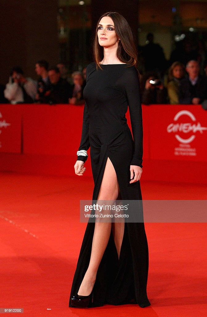 Actress Paz Vega attends the 'Triage' premiere during Day 1 of the 4th International Rome Film Festival held at the Auditorium Parco della Musica on...