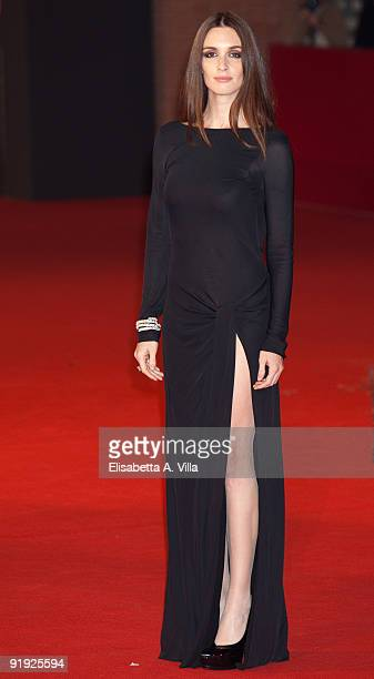 Actress Paz Vega attends the 'Triage' premiere during Day 1 of the 4th Rome International Film Festival held at the Auditorium Parco della Musica on...
