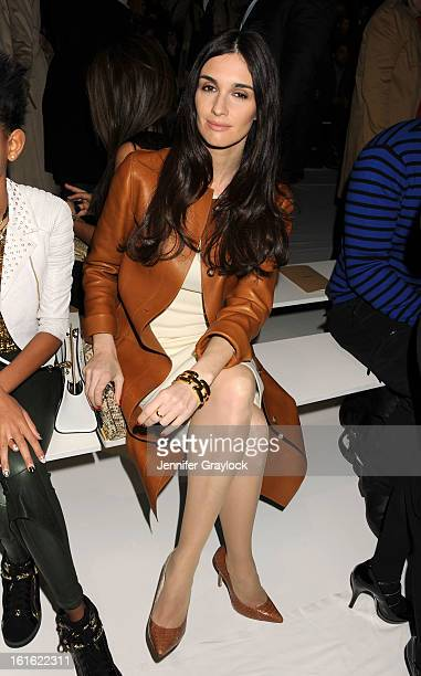 Actress Paz Vega front row during the Michael Kors Fall 2013 MercedesBenz Fashion Show at The Theater at Lincoln Center on February 13 2013 in New...