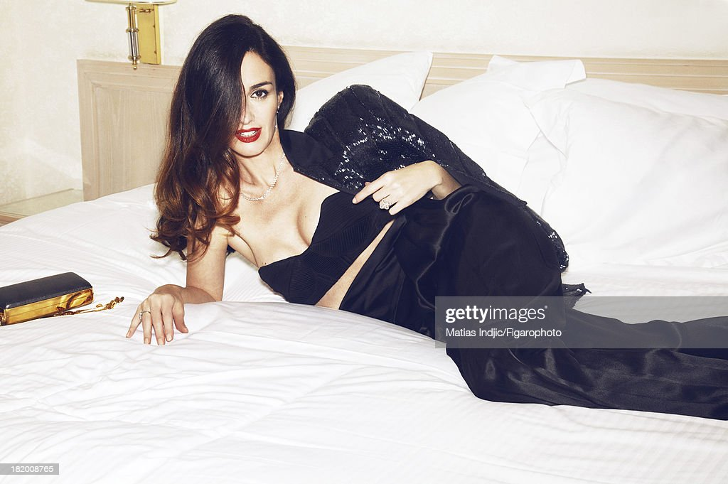 106860-009. Actress <a gi-track='captionPersonalityLinkClicked' href=/galleries/search?phrase=Paz+Vega&family=editorial&specificpeople=208840 ng-click='$event.stopPropagation()'>Paz Vega</a> is photographed for Madame Figaro on May 28, 2013 in Cannes, France. Jacket and pants (Alexandre Vauthier Couture), bra (Didit Hediprasetyo), Princesse Grace de Monaco ring (Montblanc), minaudiere (Lanvin). Make-up by L'Oreal Paris. PUBLISHED IMAGE.