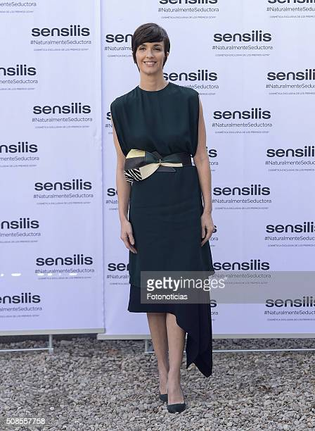 Actress Paz Vega presented as the new 'Sensilis' Ambassador at the palacio de Santa Barbara on February 5 2016 in Madrid Spain