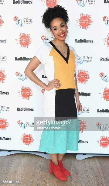 Actress Pearl Mackie attends the BFI Radio Times TV Festival at BFI Southbank on April 9 2017 in London England