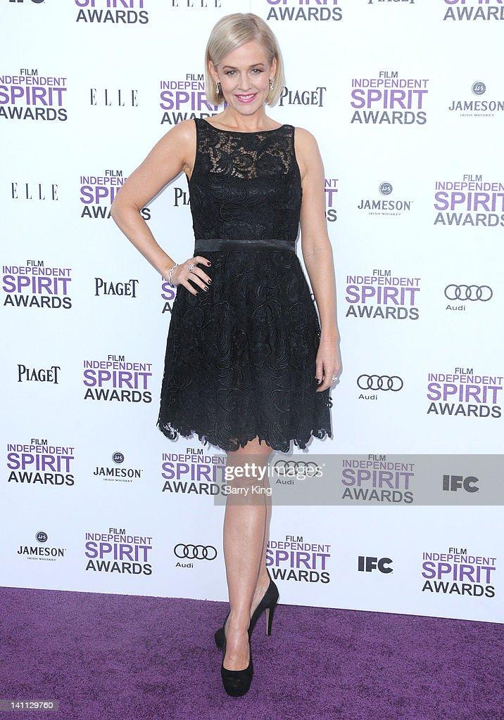 Actress Penelope Ann Miller arrives at the 2012 Film Independent Spirit Awards at Santa Monica Pier on February 25, 2012 in Santa Monica, California.