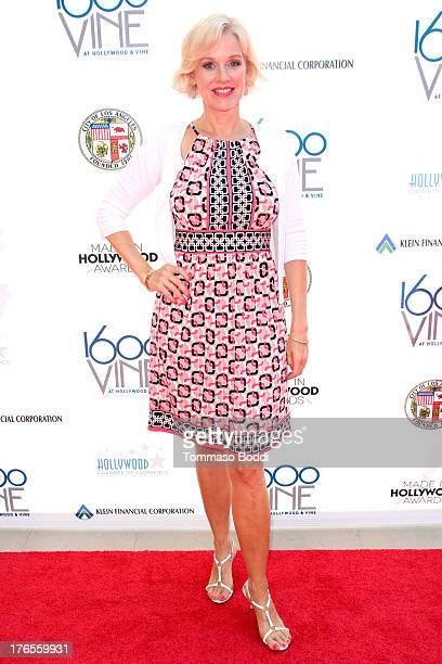 Actress Penelope Ann Miller attends the 1st annual Made In Hollywood Television Awards held at the Heart of Hollywood Terrace on August 15 2013 in...
