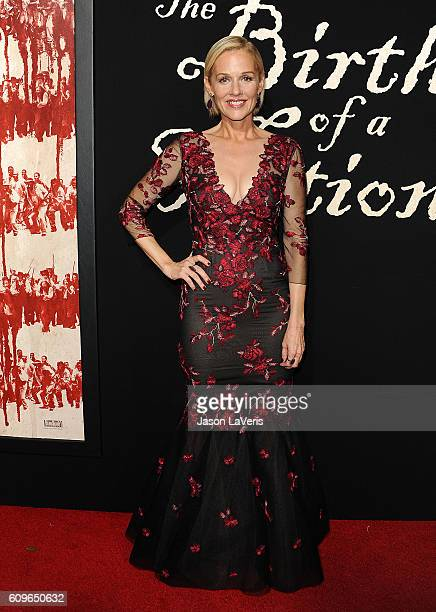 Actress Penelope Ann Miller attends the premiere of 'The Birth of a Nation' at ArcLight Cinemas Cinerama Dome on September 21 2016 in Hollywood...