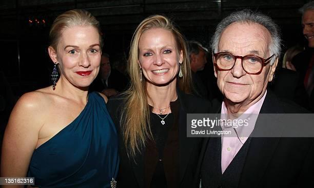 Actress Penelope Ann Miller filmmaker Shannah Laumeister and photographer Bert Stern attend Taschen's 'Norman Mailer Bert Stern Marilyn Monroe' book...