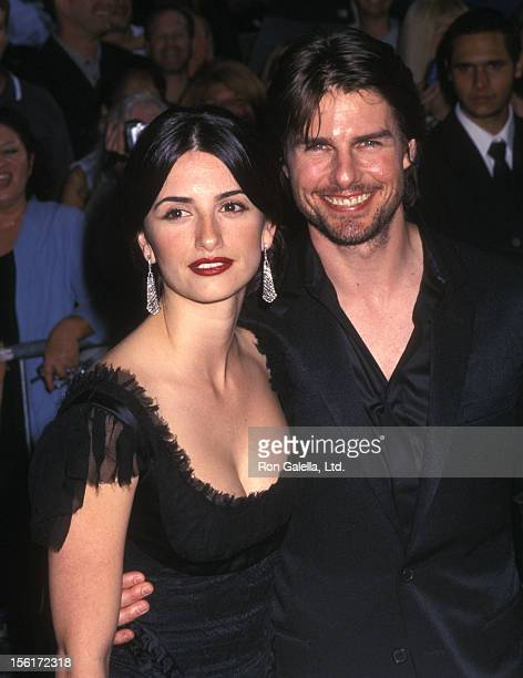 Actress Penelope Cruz and actor Tom Cruise attend the 'Minority Report' New York City Premiere on June 17 2002 at Ziegfeld Theater in New York City